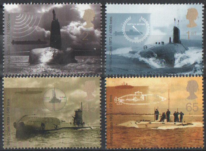 SG2202 / 05 2001 Submarines unmounted mint set of 4