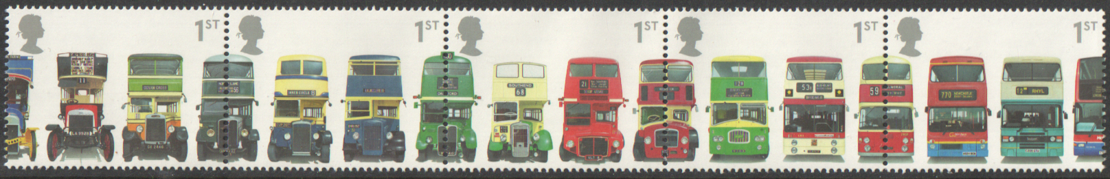 SG2210 / 14 2001 Double Decker Buses unmounted mint set of 5