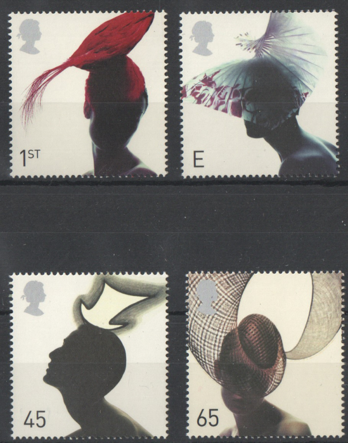SG2216 / 19 2001 Fashion Hats unmounted mint set of 4