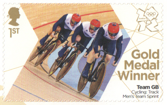 SG3346 Hindes, Hoy & Kenny London 2012 Olympic Gold Medal Winner stamp