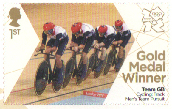 SG3348 Burke, Clancy, Kennaugh & Thomas London 2012 Olympic Gold Medal Winner stamp
