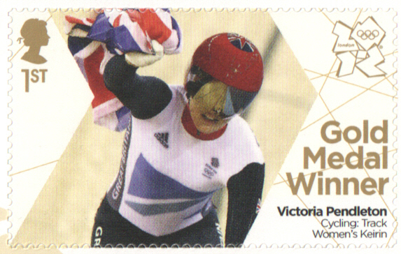 SG3349 Victoria Pendleton London 2012 Olympic Gold Medal Winner stamp