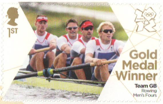 SG3350 Gregory, James, Reed & Triggs Hodge London 2012 Olympic Gold Medal Winner stamp