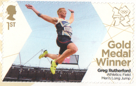 SG3354 Greg Rutherford London 2012 Olympic Gold Medal Winner stamp