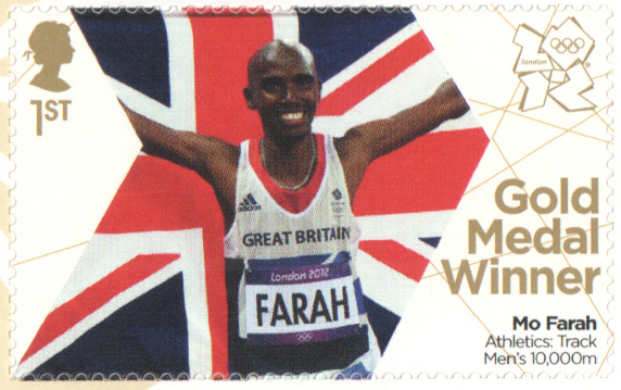 SG3355 Mo Farah London 2012 Olympic Gold Medal Winner stamp
