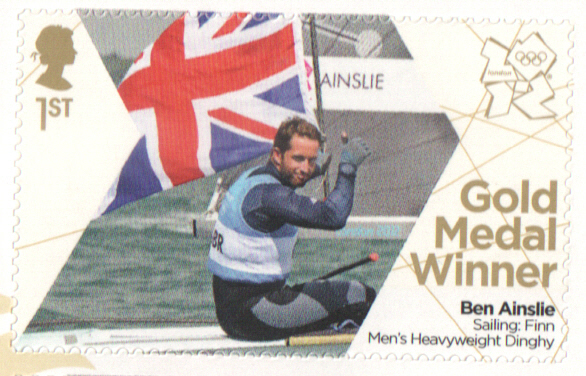 SG3356 Ben Ainslie London 2012 Olympic Gold Medal Winner stamp