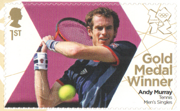 SG3357 Andy Murray London 2012 Olympic Gold Medal Winner stamp