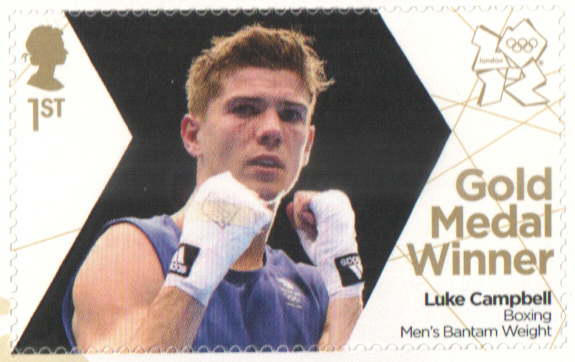 SG3369 Luke Campbell London 2012 Olympic Gold Medal Winner stamp