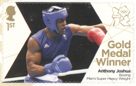 SG3370 Anthony Joshua London 2012 Olympic Gold Medal Winner stamp