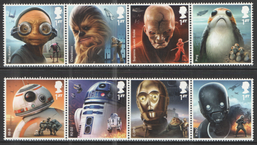 SG4007 / 14 2017 Star Wars unmounted mint set of 8