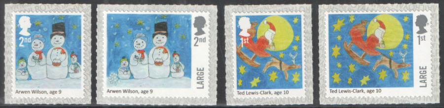 SG4028 / 31 2017 Children's Christmas unmounted mint set of 4