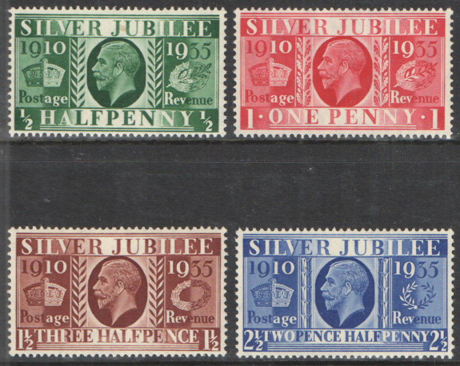 SG453 / 456 1935 Silver Jubilee unmounted set of 4