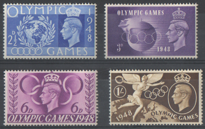SG495 / 498 1948 Olympic Games unmounted mint set of 4