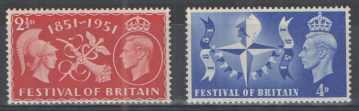 SG513 / 514 1951 Festival of Britain unmounted mint set of 2