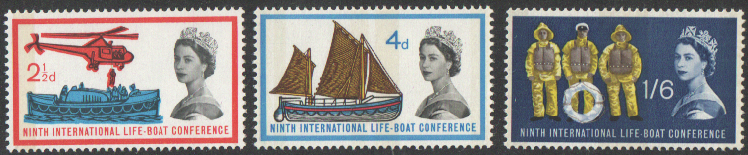 SG639p / 641p 1963 Lifeboat Conference (Phosphor) unmounted mint set of 3
