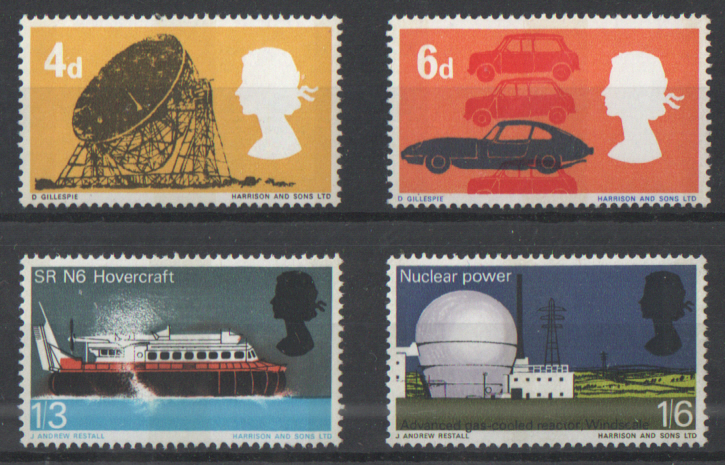 SG701p / 704p 1966 British Technology (Phosphor) unmounted mint set of 4