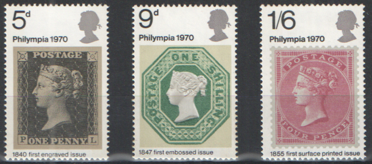 SG835 / 837 1970 Philympia unmounted mint set of 3