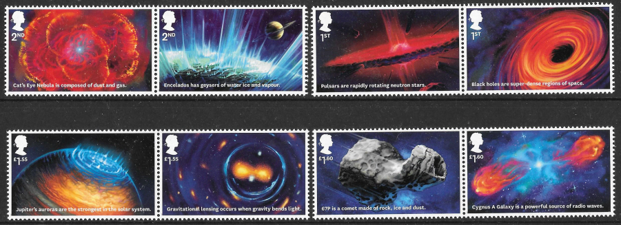 SG4323 / 30 2020 Visions of the Universe unmounted mint set of 8