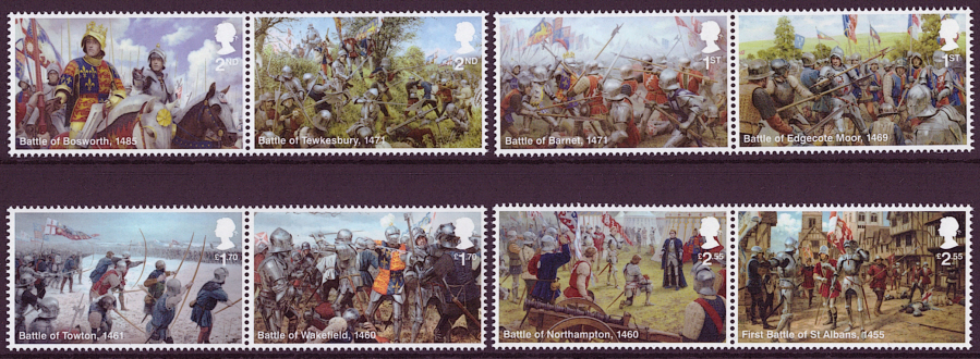 SG(TBC) 2021 War of the Roses unmounted mint set of 8