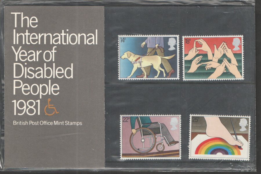 1981 Year Of The Disabled Royal Mail Presentation Pack 125