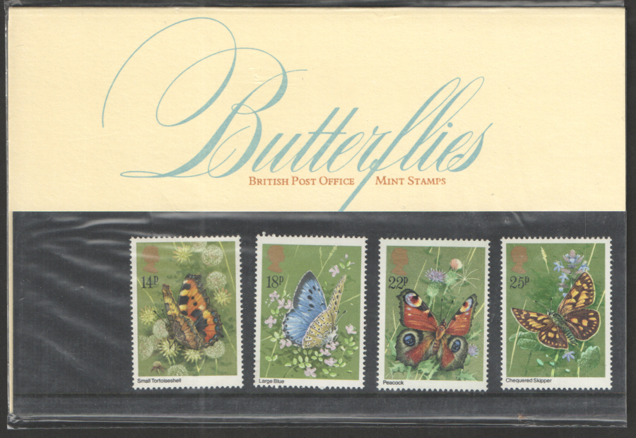 1981 Butterflies Royal Mail Presentation Pack 126