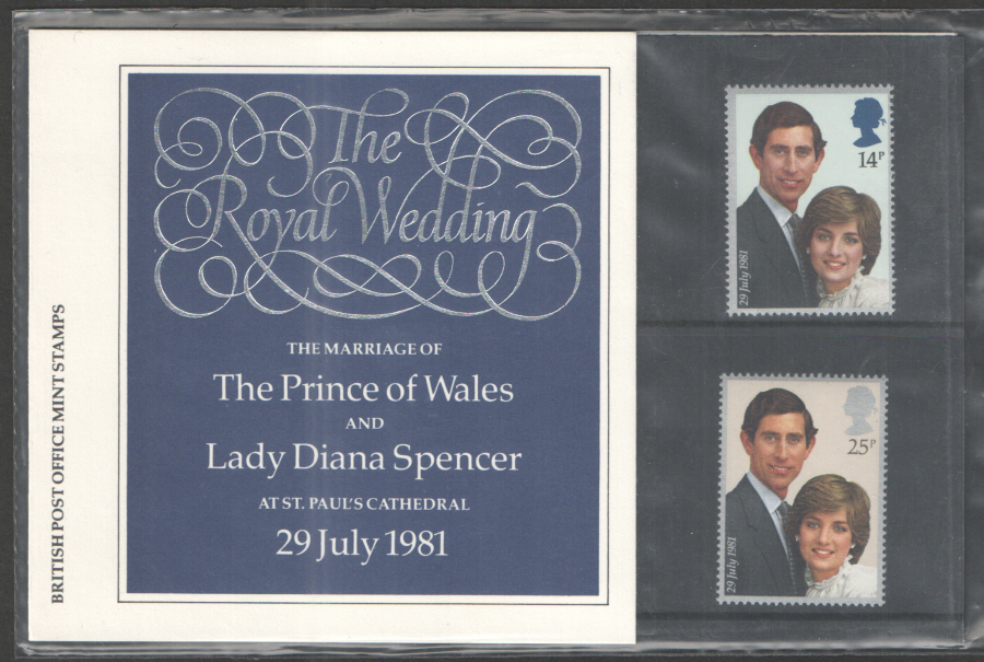 1981 Royal Wedding Royal Mail Presentation Pack 127a