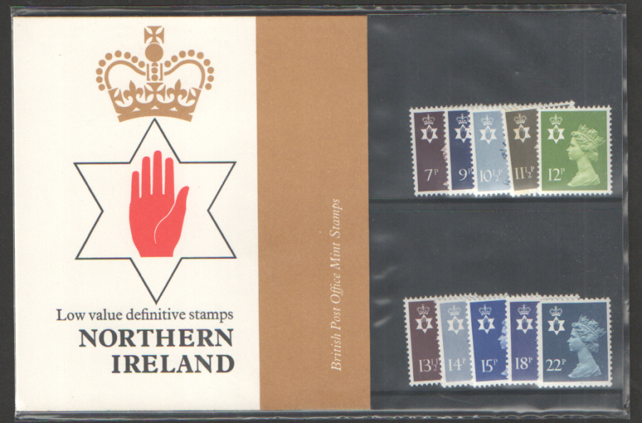 1981 Northern Ireland Definitive Royal Mail Presentation Pack 129d