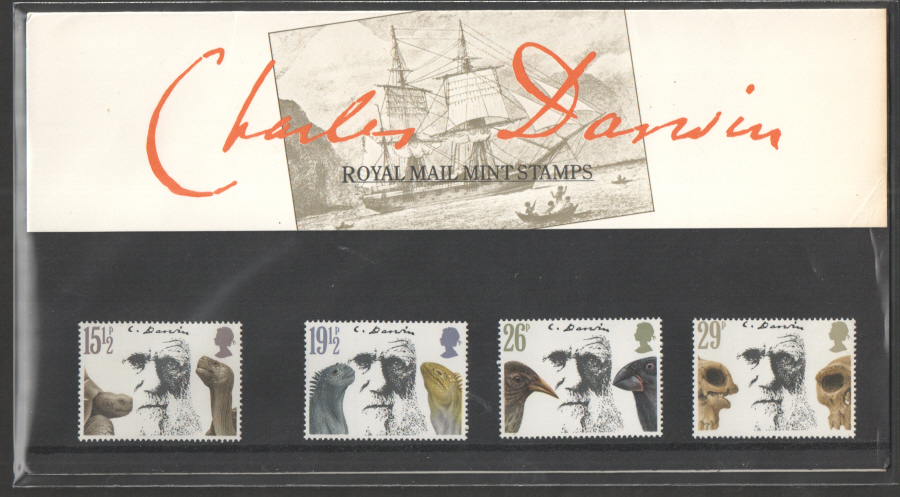 1982 Charles Darwin Royal Mail Presentation Pack 132