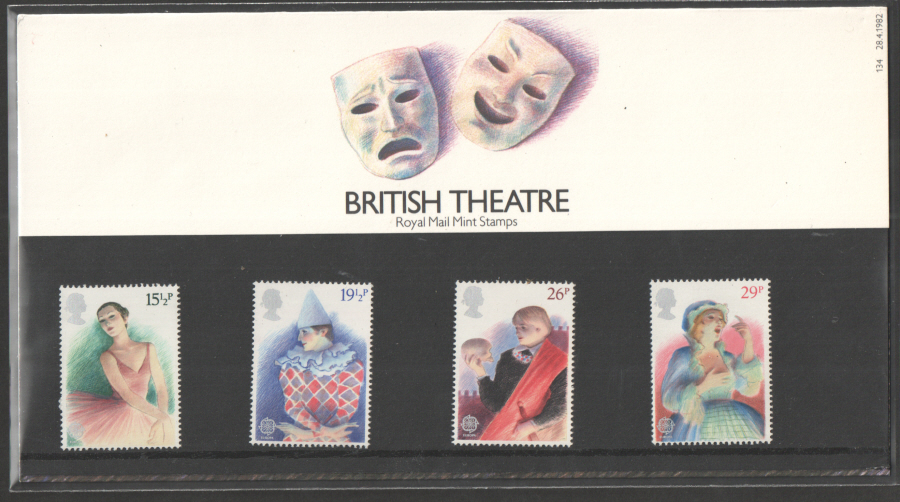 1982 British Theatre Royal Mail Presentation Pack 134
