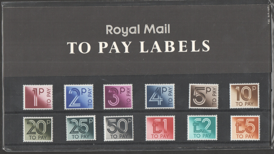 1982 Postage Due / To Pay Royal Mail Presentation Pack 135