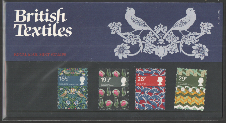1982 British Textiles Royal Mail Presentation Pack 137