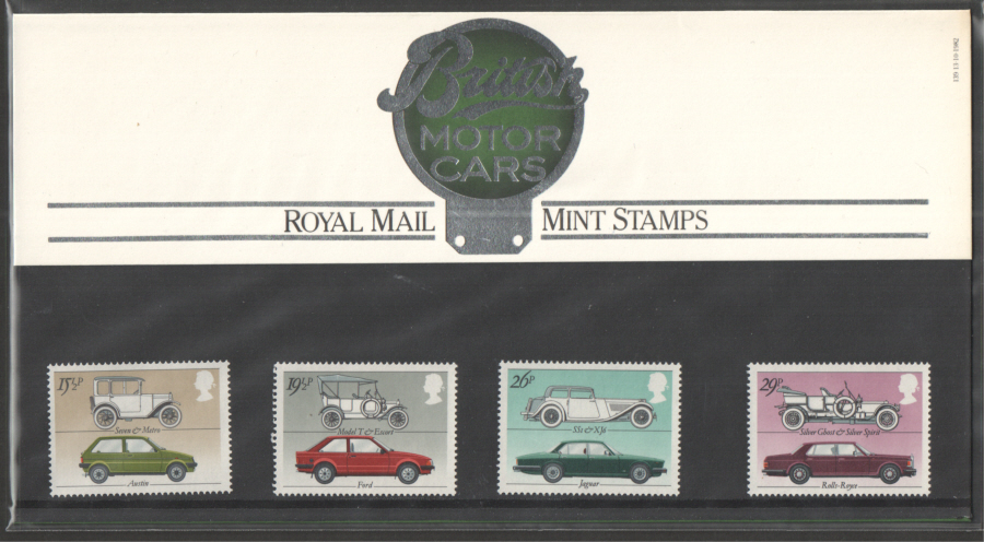 1982 British Cars Royal Mail Presentation Pack 139