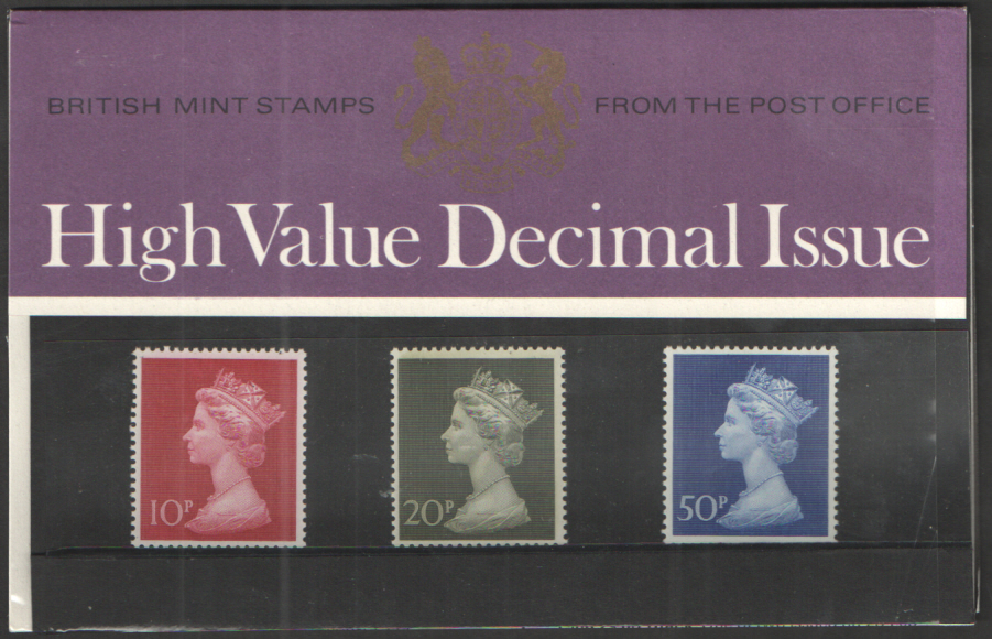 1970 Machin Definitives Royal Mail Presentation Pack 18