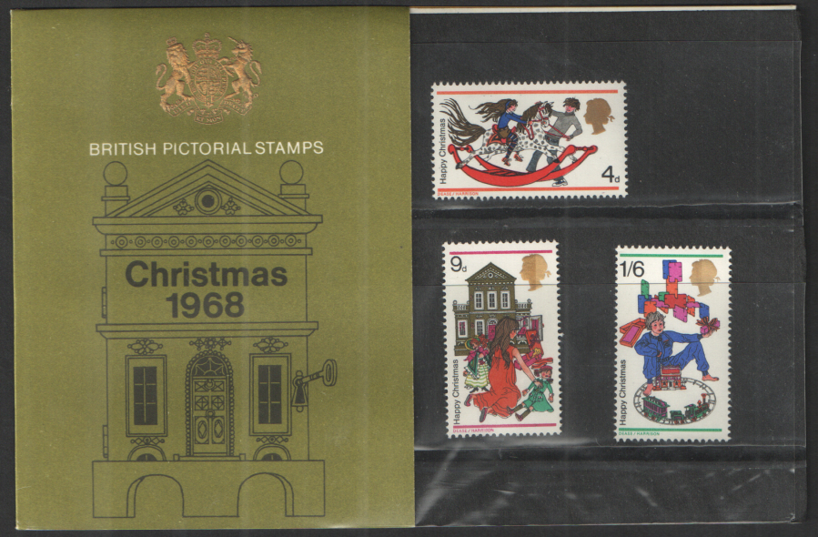 1968 Christmas Type B - Two Tufts Presentation Pack
