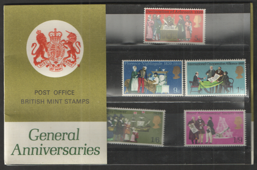 1970 General Anniversaries Type B Presentation Pack