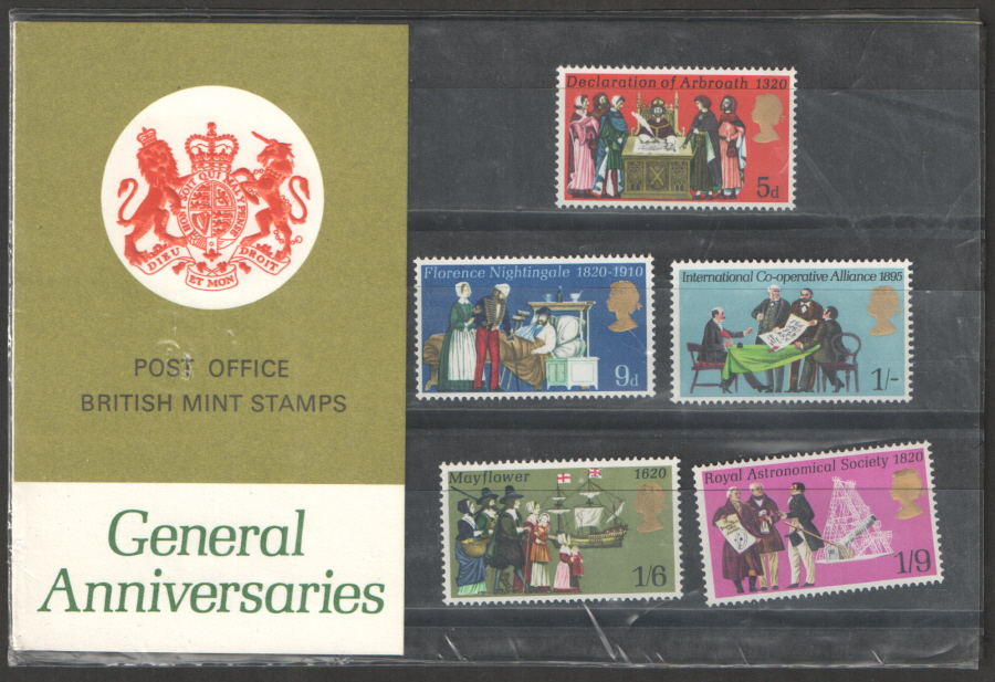 1970 General Anniversaries Type H Presentation Pack