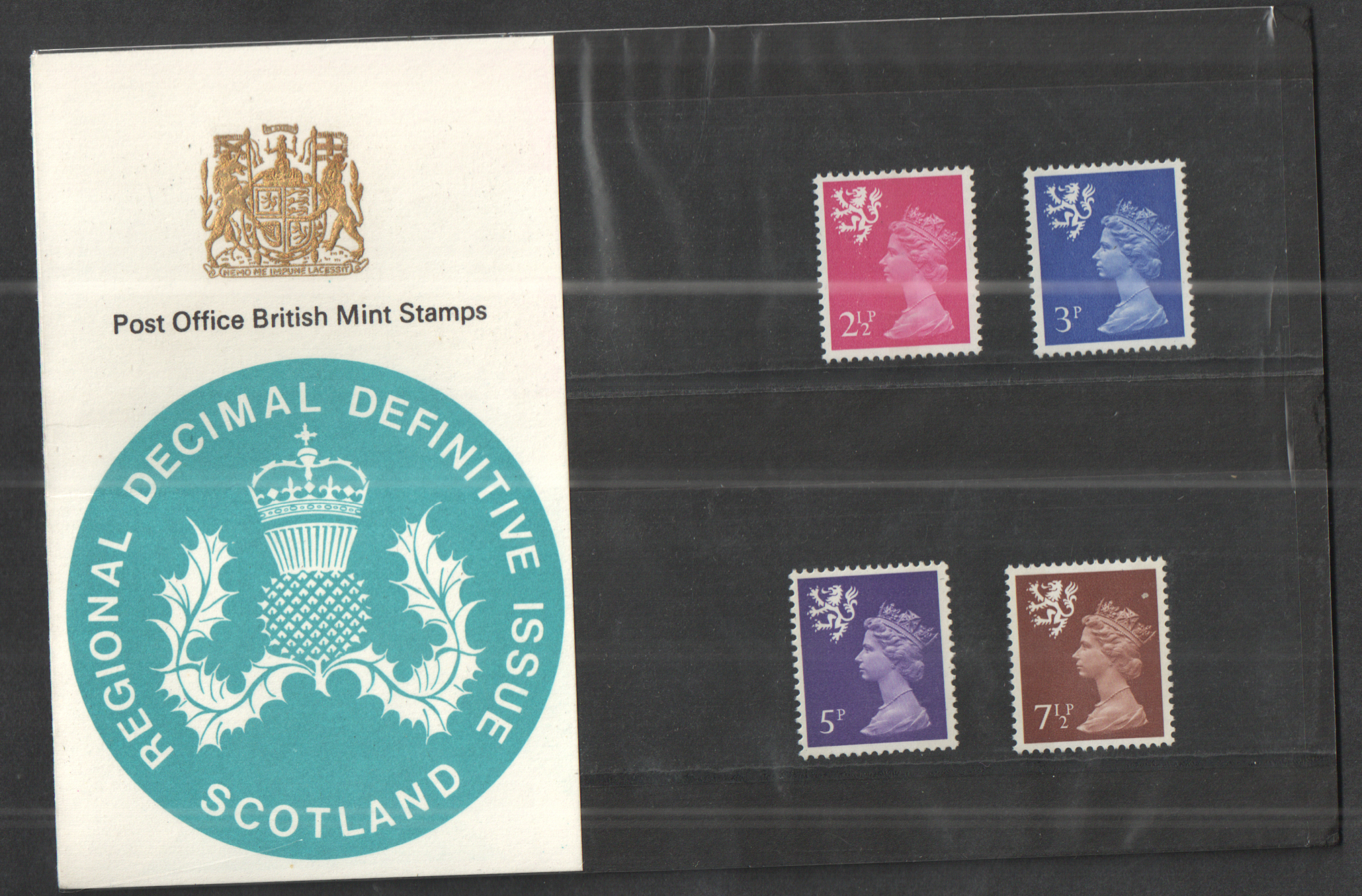 1971 Scotland Type A - No Spur on Lion's hind leg Definitive Royal Mail Presentation Pack 27