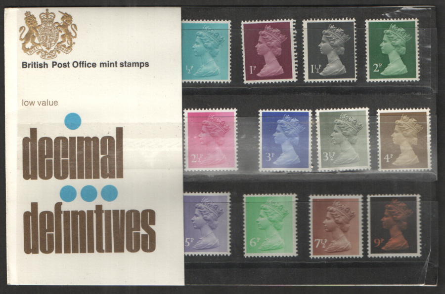 1971 Type A - One Tuft Machin Definitives Royal Mail Presentation Pack 26