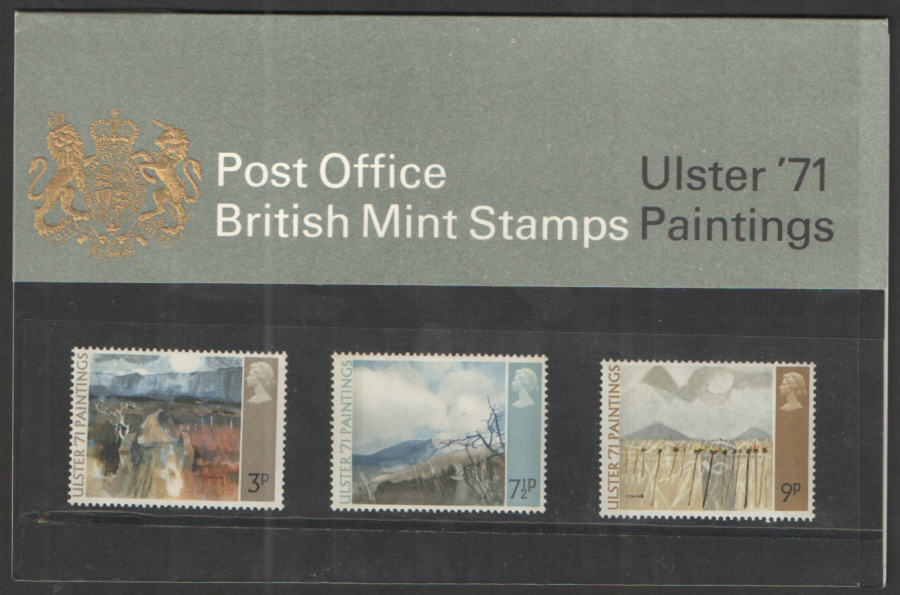 1971 Ulster Paintings Type A - Missing Chain Royal Mail Presentation Pack 26a