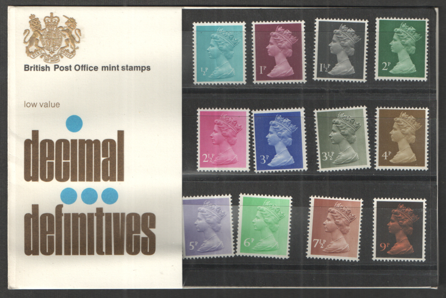1971 Type B - Two Tufts Machin Definitives Royal Mail Presentation Pack 26