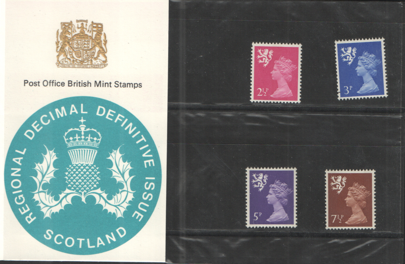 1971 Scotland Type B - Spur on Lion's hind leg Definitive Royal Mail Presentation Pack 27