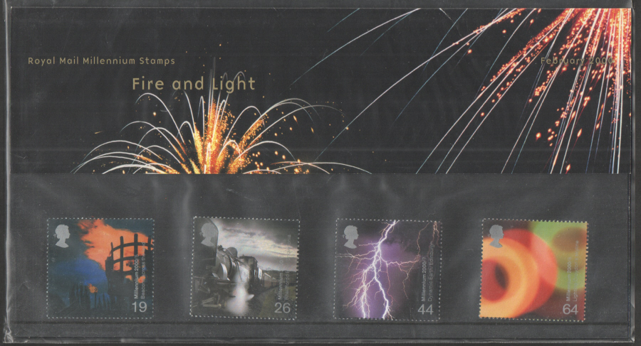 2000 Fire & Light Royal Mail Presentation Pack 308