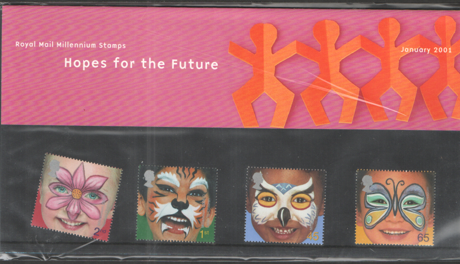 2001 Hopes For The Future Royal Mail Presentation Pack 319