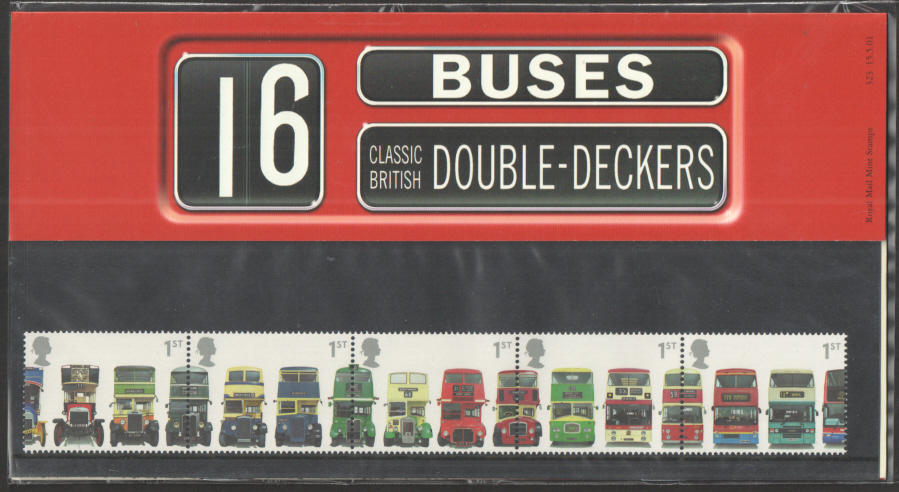 2001 Double Decker Buses Royal Mail Presentation Pack 323