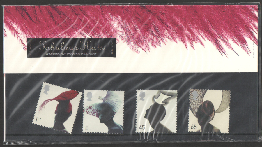 2001 Fashion Hats Royal Mail Presentation Pack 324
