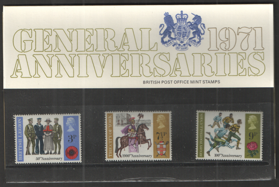 1971 General Anniversaries Royal Mail Presentation Pack 32A
