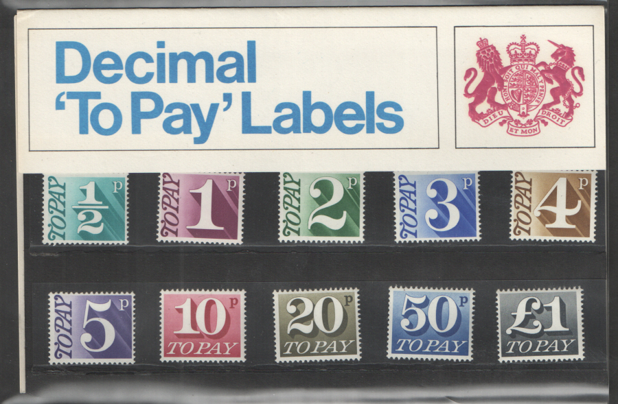 1971 Postage Due / To Pay Royal Mail Presentation Pack 36