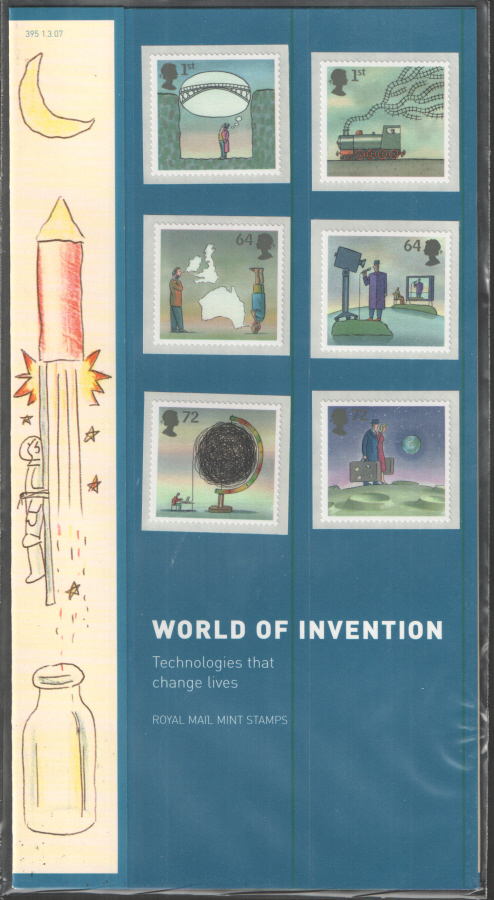 2007 World of Invention Royal Mail Presentation Pack 395