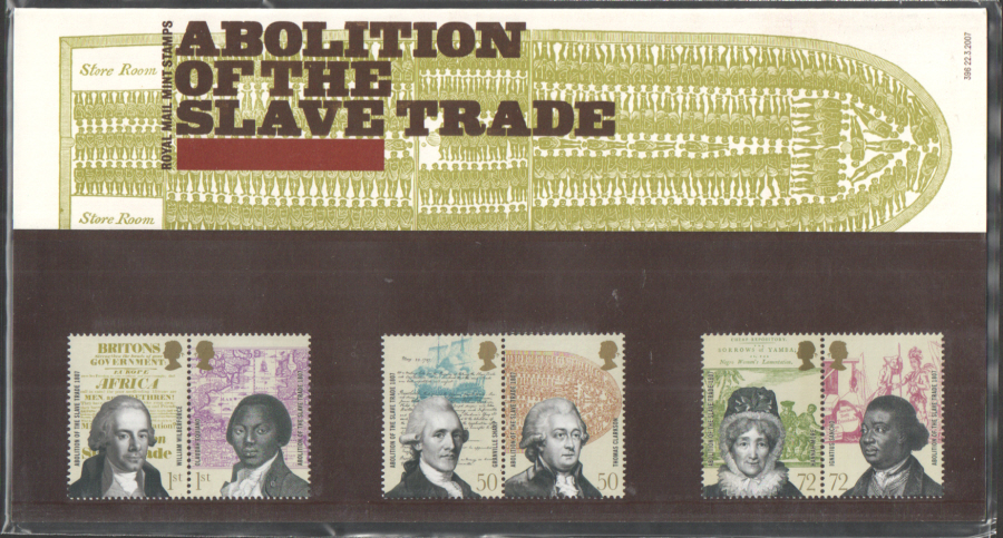 2007 Abolition of the Slave Trade Royal Mail Presentation Pack 396
