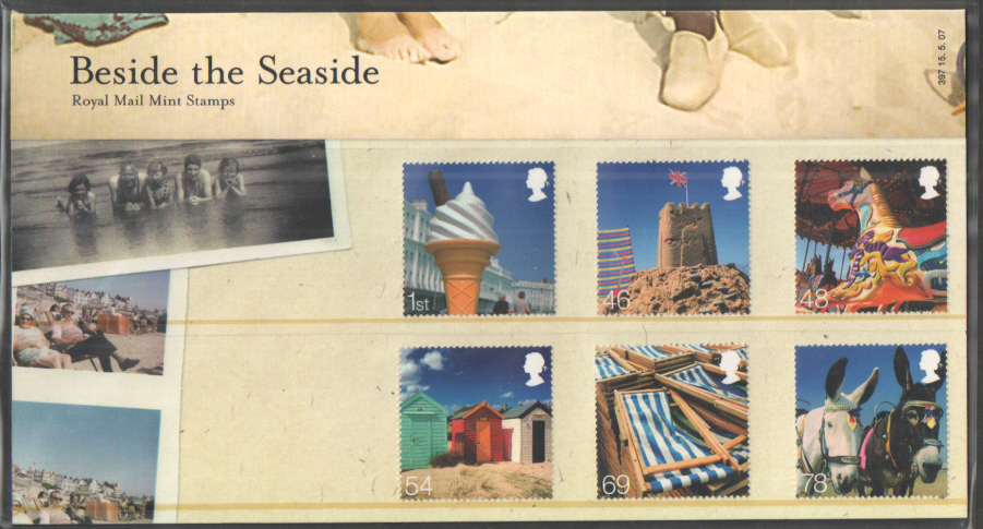 2007 Beside The Seaside Royal Mail Presentation Pack 397